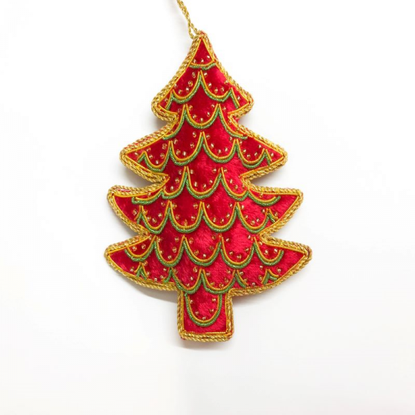 Red Velvet Christmas Tree Decoration