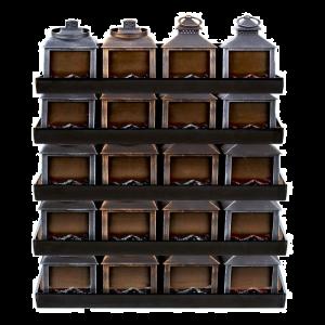 Fireplace LED Lantern Rectangle