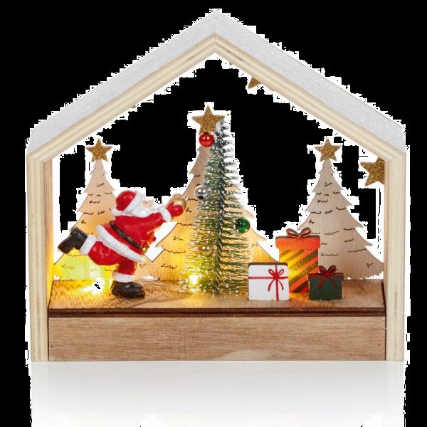 Light Scene - Santa and Christmas Tree