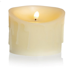 LED Candle with melted wax look