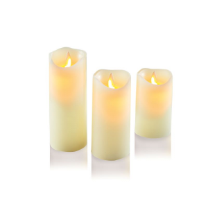 LED Candles - Dancing flame set of 3