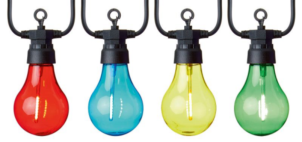 Multi-coloured Set of 10 Connectable Lights