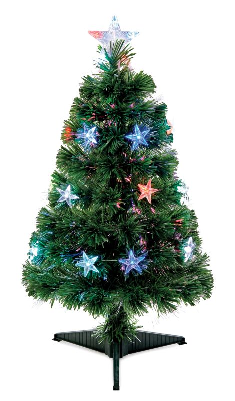 Fibre Optic Christmas Tree with Star Lights and Star topper