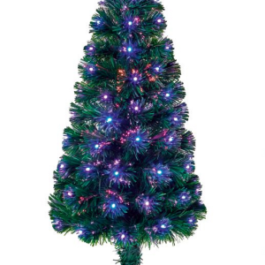 Fibre Optice Slim Christmas Tree with Star Topper