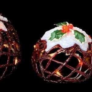 Acrylic Christmas Puddings Lights