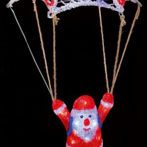 Acrylic Christmas Parachuting Santa