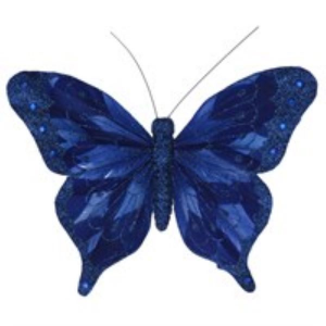 Gisela Graham Feather Butterfly Clip