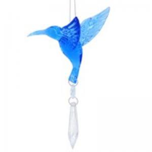 Gisela Graham Hummingbird with Crystal Dropper Christmas Decoration
