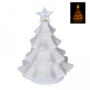 LED Christmas Tree Bisque Ornament by Gisela Graham
