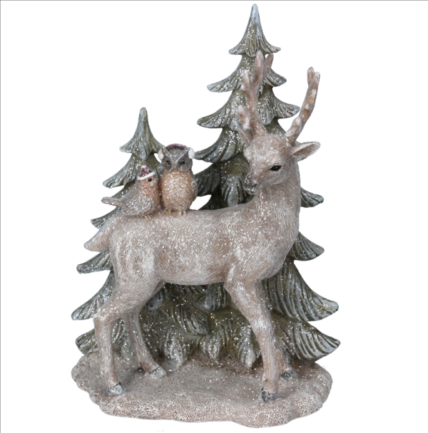 Resin Stag and Tree Ornament