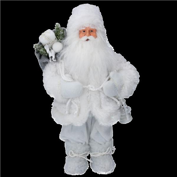 Faux Fur Santa with Sack Ornament