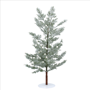 Frosted Tree with Pearl Berries