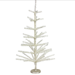 Silver Tinsel Spiky Tree