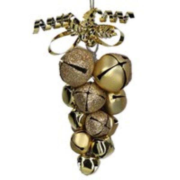 Gold Metal Jingle Bell Cluster