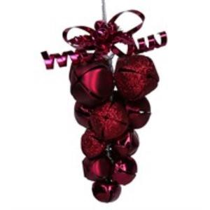 Burgundy Metal Jingle Bell Cluster