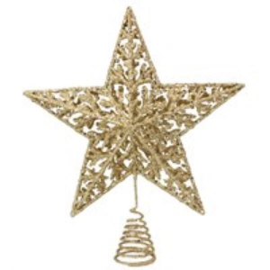 Gold Glitter Star Tree Topper