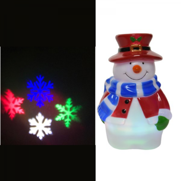 LED Snowman Projector