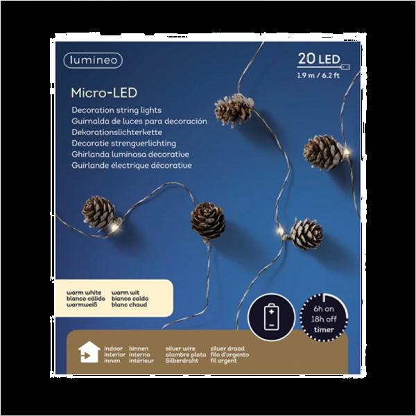 Micro LED Pine Garland