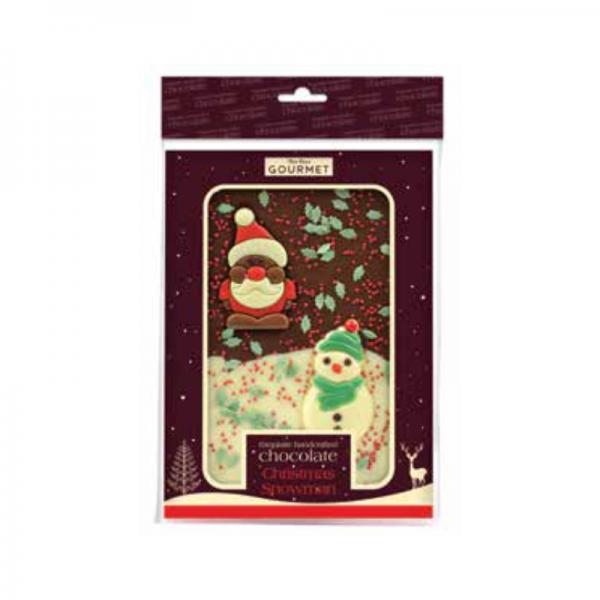Christmas Snowman Chocolate Slab - Hanging Bag