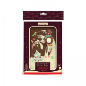 Christmas Pengiun Chocolate Slab - Hanging Bag