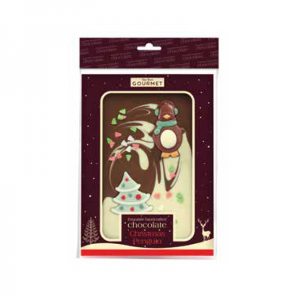 Christmas Pengiun Chocolate Slab - Hanging Bag