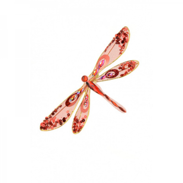 Glitter Dragonfly Clip