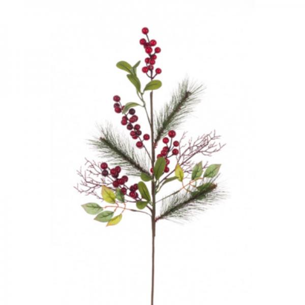 Berry Pine Twig Spray