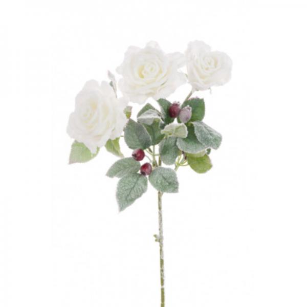 Snowy Rose Spray