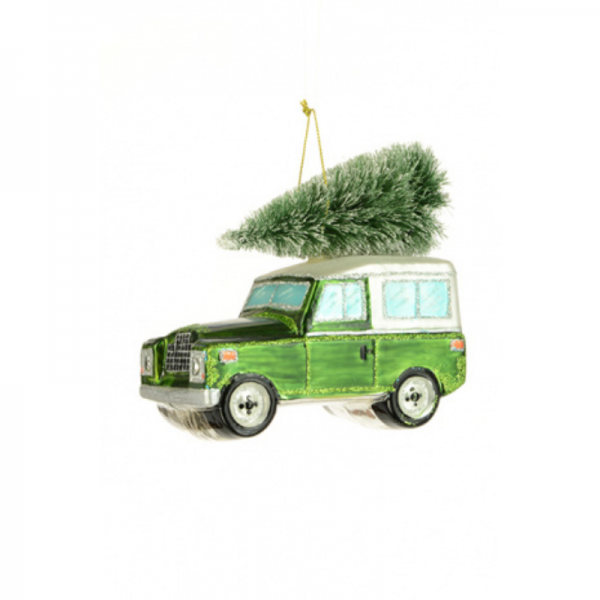 Land Rover With Tree