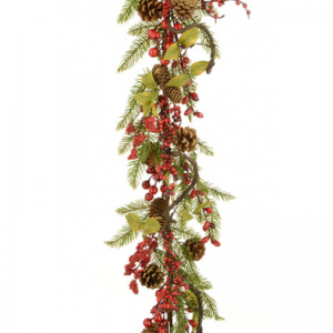 Twig,Pine and Berry Garland
