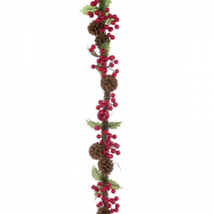 Berry Pinecone Garland