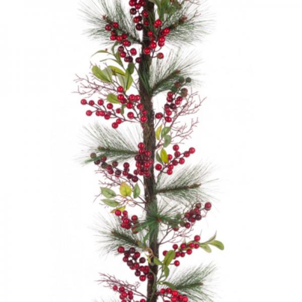 Berry Pine Twig Garland