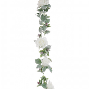 Snowy Rose Garland