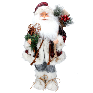 Plush Santa with Tartan Coat