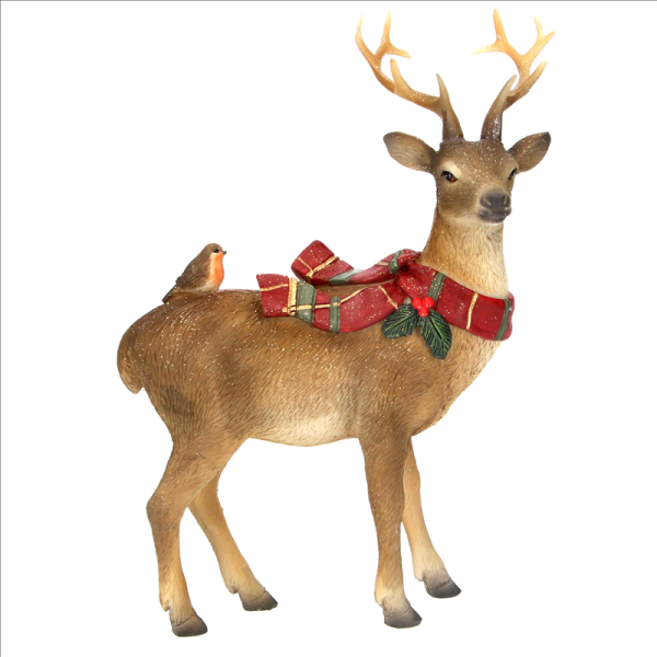 Resin Stag with Tartan Scarf