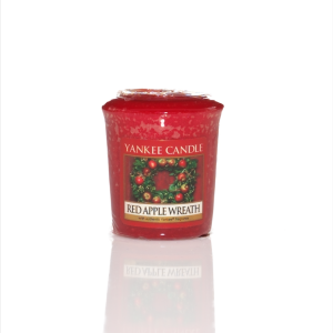 VOTIVE YANKEE CANDLE RED APPLE WREATH