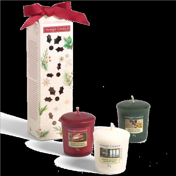 3 Votive Candle Gift Set