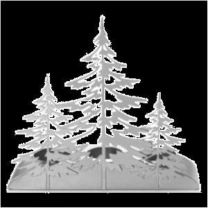 Snowy Gatherings Silver Trees Multi-Tea light Holder
