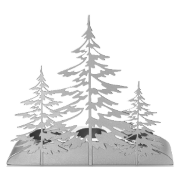Snowy Gatherings Silver Trees Multi-Tea light Holder