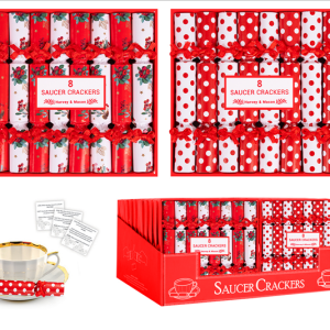 Red & White Saucer Crackers