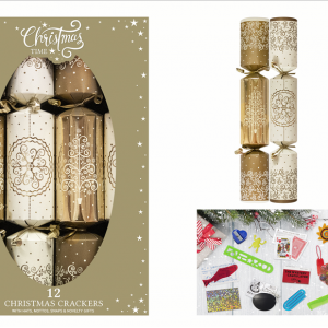Gold Tree Bauble Crackers
