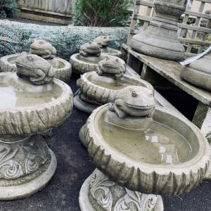 Rustic Frog Bird Bath