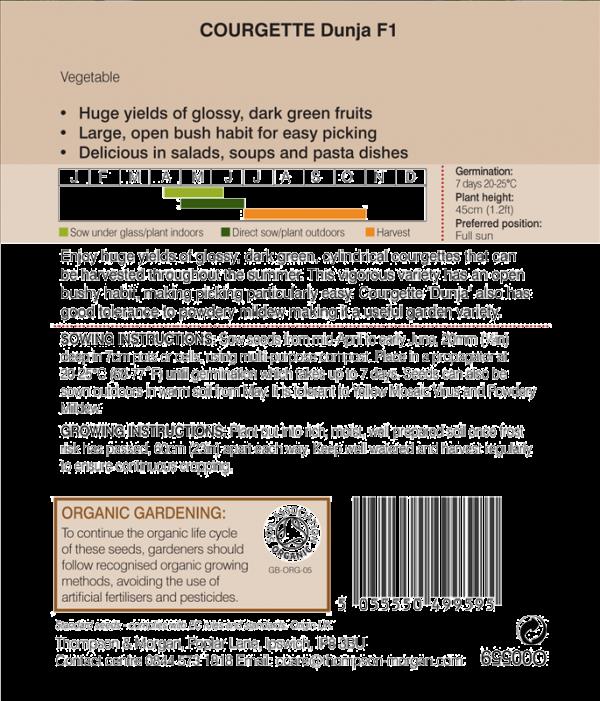 Courgette Dunja F1  (Organic)