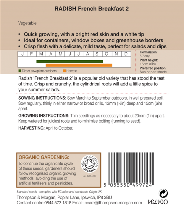 Radish French (Organic)