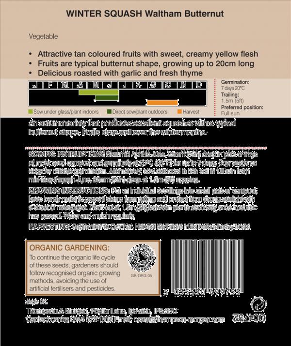 Squash Waltham Organic