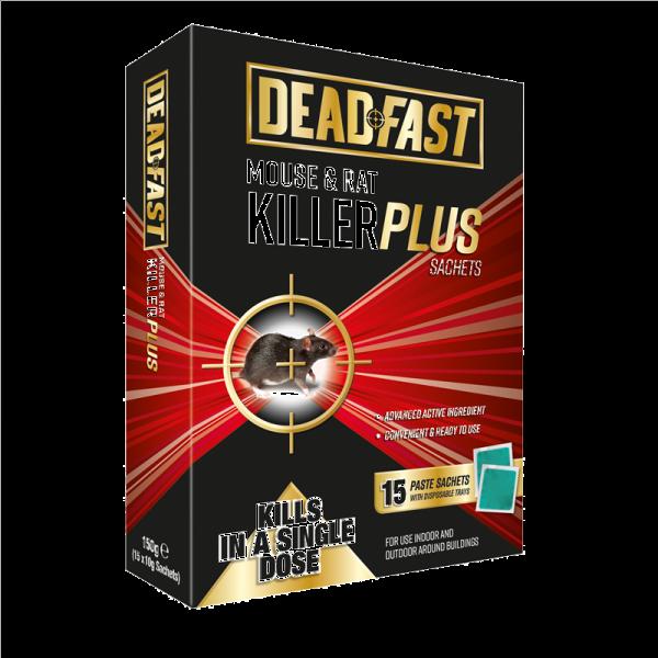 Deadfast Mouse and Rat Killer Plus 15 Sachets