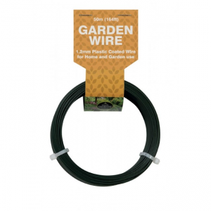 50m Garden Wire 1.2mm Plastic Coated