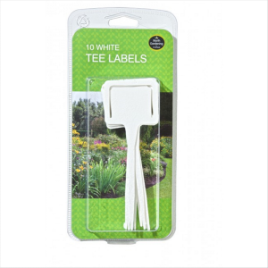 White Tee Labels Pack of 10