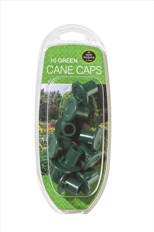 Cane Caps Green Pack of 10