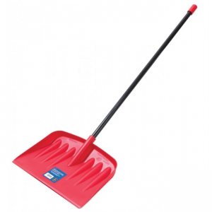 Snowshovel with Metal Handle Red